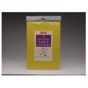 Tablecloth Dark Yellow paper Disposable Twin Pack 90 x 90