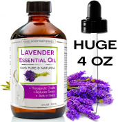 BEST Lavender Oil - 100 % NATURAL Premium Quality Bulgarian Huge 120ml with Dropper - Lavender Essential Oil Uses, Treats Stress, Anxiety, and Depression - Lavender Oil Benefits, Ideal for Massages, Aromatherapy, Sleep Aid, Alleviating Headaches, and M ..