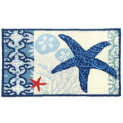 Homefires Accents Italian Tile with Starfish Indoor Rug, 60cm by 90cm