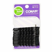 Conair Styling Essentials Bobby Pins, Firm Hold, Black, 18 ct.