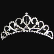 . Princess Crystal Austrian Rhinestone Tiara Small Hair Comb Crown