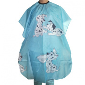 Kids Hair styling Cape Blue Dalmatian