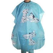 Kids Hair styling Cape Blue Dalmatian