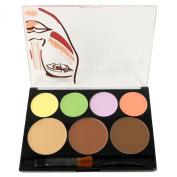 1pc City Colour Contour & Corrector Cream Palette - Corrector/Contour/Bronze/Highlight #F0025