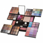 JumblTM Professional Carry All Colour Makeup Kit Beautiful Hide Away Case Include 84 Eyeshadow Colours, 3 Blushes, 1 Press Powder 9 Lip Gloss, 1 Eye Pencil 1 Blush Brush, 3 Applicators + JumblTM Brush and Mirror Included