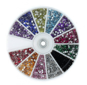 Jovana Rhinestones 1200 Piece 12 Colour Nail Art Nailart Manicure Wheels