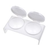 So Beauty 2pcs Liquid Double Dappen Case Dish for Nail Art--White