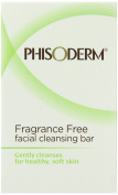Phisoderm Fragance Free Facial Cleansing Bar, 100ml Bar, 2 Count, 200ml
