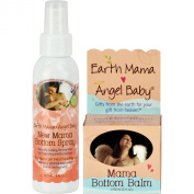 Earth Mama Angel Baby, Mama Bottom Balm, 60ml Jar PLUS New Mama Bottom Spray - 120ml