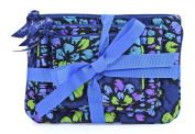 Vera Bradley Indigo Pop Cosmetic Trio Cases