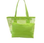 Tonwhar Women's Polka Dot Clear Tote Bag Transparent Beach Bag