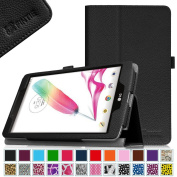 Fintie LG G Pad F 8.0 (AT & T V495 / T-Mobile V496) Folio Case - Premium Leather With Stylus Holder [ONLY Fit AT & T 4G LTE Model V495 and T-Mobile 4G LTE Model V496] 20cm Android Tablet, Black