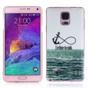 Sannysis I Refuse To Sink Rubber Soft TPU Case Gel Cover for Samsung Galaxy Note 4
