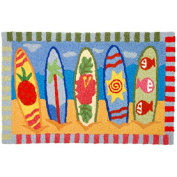 Snazzy Surfboards Surfing JellyBean Accent Rug