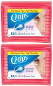 Q, Tips Cotton Swabs, 30 ct., Travel Size Purse ct, 2 Pack