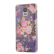 Doinshop Cute Diamond Cover Orchid Hard Skin Case for Samsung Galaxy Note 4