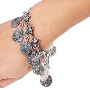 Lowpricenice(TM)Fashion Turkish Jewellery Bohemian Ethnic Vintage Silver Coin Bracelet Anklet