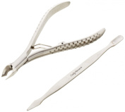 Sally Hansen Beauty Tools, Nip'em Neat-Cuticle Nipper with pusher, 1/2 Jaw
