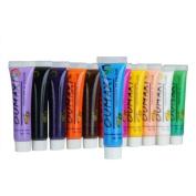 12 Colours 3D Painting Pigment Acrylic Paint Nail Art Design Tips Tube Set