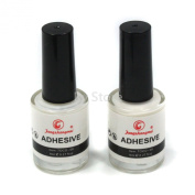 Professional 2PCS Galaxy Star Nail Art Glue for Foil Sticker Nail Transfer Tips Decorations Adhesive White 8ml