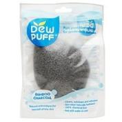 DEW PUFF Pure Plant Fibre Sponge, Bamboo Charcoal 1 ea