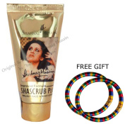 Shahnaz Husain Shascrub - 40g - with FREE GIFT Pair of Multicolor Bangles