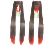 Sunny-business Long Straight Multicolor Miku Vocaloid Anime Cosplay Wig