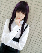 Sunny-business Anime Long Straight Purple Inu X Boku Secret Service Cosplay Wig