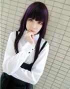 Sunny-business Anime Long Straight Purple Inu X Boku Secret Service Cosplay Wig