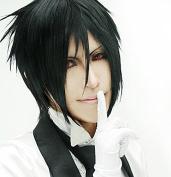 Sunny-business Short Black Sebastian Anime Cosplay Wig