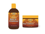 Simply Shea Organic Shea Butter Hair Care Bundle - Leave-In Conditioner (240ml) and Deep Conditioner & Co-Wash