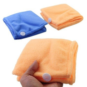 Lady's Magic Hair Drying Towel/hat/cap Quick Dry Bath - Colour Random