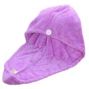 Lovely Coral Velvet Towel Dry Hair Head Wrap Turban