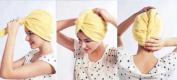 Hair Towel Twist Hair Drying Towel Microfiber Yellow
