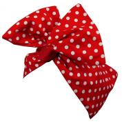 Rockabilly Style 1950s Hairband - Paloma Red Polka