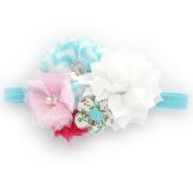 My Lello Girls Shabby Chic Flower Cluster Headband