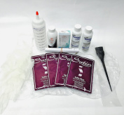 Dark Brown Black to Light Icy Arctic Silver Shades of Grey Hair Colour Bleach Kit