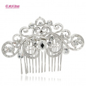Vintage Flower Hair Combs Bridal Wedding Hair Accessories Austrian Crystals Hairpins Jewellery Hair Clips 2292R