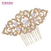 Silver/Gold Tone Vintage Hair Comb Bridal Wedding Hair Accessories Jewellery Crystal Hair Pins 1454