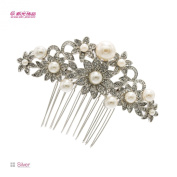 Flower Hair Comb Bridal Wedding Hair Accessories Women Decoration Pearl Combs Jewellery Crystals Hair Combs 1446R1