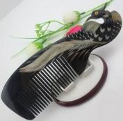 DMtse Natural horn comb Phoenix Comb natural horn carving comb