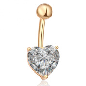 CHN'S Women Sexy Belly Navel Ring Love Heart Bow Piercing Jewellery Belly Bar Button Crystal Body Jewellery