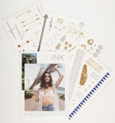 The DXB Collection by Blink Tattoos [60+ Metallic Gold Silver Black Temporary Tattoos]