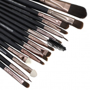 Polytree 15pcs Makeup Powder Foundation Eyeshadow Mascara Lip Eyebrow Brush Set