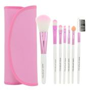 Smartstar 7pcs Professional Cosmetic Makeup Brushes Set Kit with Pink Bag Case