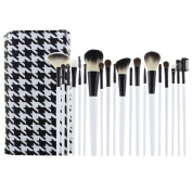 Smartstar 20 pcs Professional Goat & Pony hair Make-up Brushes Set Cosmetic with Pouch Bag