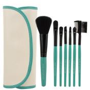 Smartstar 7pcs Professional Cosmetic Makeup Brushes Set Kit with Blue Bag Case
