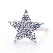 DoubleAccent Hair Jewellery Magnet Mini star Barrette Clear Colour
