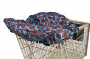 Wupzey Shopping Cart Cover, Blue Giraffe