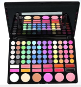 BLUETTEK® Professional 78 Colours Eyeshadow Eye Shadow Palette Cosmetic Makeup Kit Set Make Up Professional Box with 6 Blush and 12 Lipsticks
